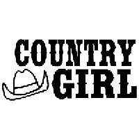 Country Girl Die Cut Vinyl Decal PV1310