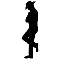 Cowboy Die Cut Vinyl Decal PV1163