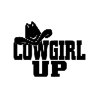 Cowgirl Up Die Cut Vinyl Decal PV2337