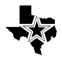 Dallas Texas Die Cut Vinyl Decal PV1000