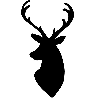 Deer Die Cut Vinyl Decal PV867