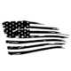 Destressed Flag Die Cut Vinyl Decal PV2328