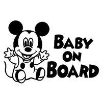 Disney Baby On Board Die Cut Vinyl Decal PV1430