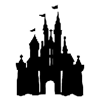 Disney Castle Die Cut Vinyl Decal PV797