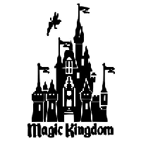 Disney Castle Die Cut Vinyl Decal PV798