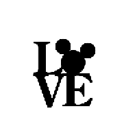 Disney Love Die Cut Vinyl Decal PV976