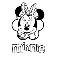 Disney Minnie Die Cut Vinyl Decal PV2421