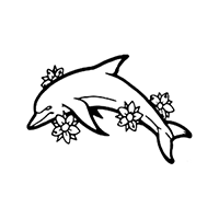 Dolphin Die Cut Vinyl Decal PV119