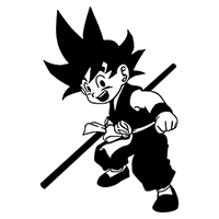 Dragon Ball Z Kid Goku Die Cut Vinyl Decal PV1946
