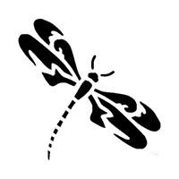 Dragon Fly Die Cut Vinyl Decal PV428