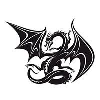 Dragon Die Cut Vinyl Decal PV700