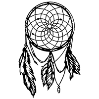 Dreamcatcher Die Cut Vinyl Decal PV2244