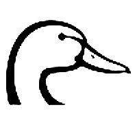 Duck Die Cut Vinyl Decal PV518