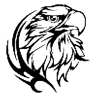 Eagle Die Cut Vinyl Decal PV1123