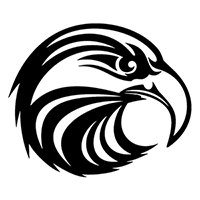 Eagle Die Cut Vinyl Decal PV1386