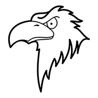 Eagle Die Cut Vinyl Decal PV1614