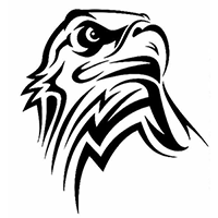 Eagle Tribal Die Cut Vinyl Decal PV351
