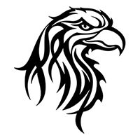 Eagle Tribal Die Cut Vinyl Decal PV352