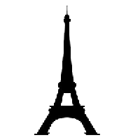 Eiffel Tower Die Cut Vinyl Decal PV935