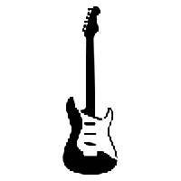 Electric Guitar Die Cut Vinyl Decal PV745