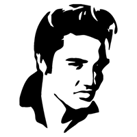 Elvis Die Cut Vinyl Decal PV1912