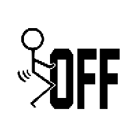 F Off Die Cut Vinyl Decal PV2226