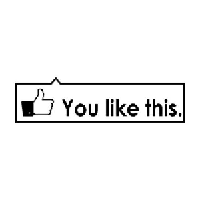 Facebook Like This Die Cut Vinyl Decal PV696
