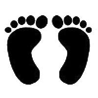 Feet Die Cut Vinyl Decal PV477