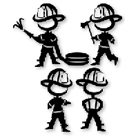 Fire Fighters Die Cut Vinyl Decal PV1173