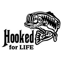 Fishing Hooked for Life Die Cut Vinyl Decal PV2316
