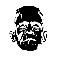 Frankenstein Die Cut Vinyl Decal PV1353