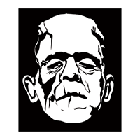 Frankenstein Die Cut Vinyl Decal PV1357