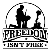 Freedom Isnt free Die Cut Vinyl Decal pv1824