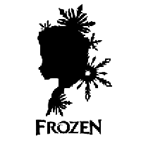 Frozen Die Cut Vinyl Decal PV1169