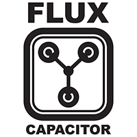 Fulx Capacitor Die Cut Vinyl Decal PV433