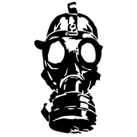 Gas mask Die Cut Vinyl Decal PV2245