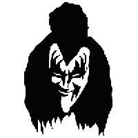 Gene Simmons Kiss Die Cut Vinyl Decal PV1940