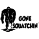 Gone Squatchin Die Cut Vinyl Decal PV1422