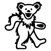 Grateful Dead Bear Die Cut Vinyl Decal PV1964
