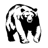 Grizzly Bear Die Cut Vinyl Decal PV2182