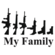 Gun Family Die Cut Vinyl Decal PV1936