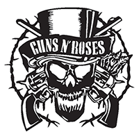 Gun N Roses Die Cut Vinyl Decal PV2395