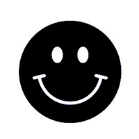 Happy Face Die Cut Vinyl Decal PV430