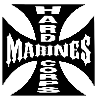 Hardcore Marines Car Truck Vinyl Decal PV393