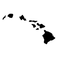 Hawaii Die Cut Vinyl Decal PV302