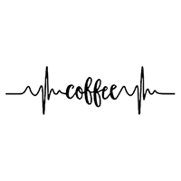 Heartbeat Coffee Die Cut Vinyl Decal PV2385