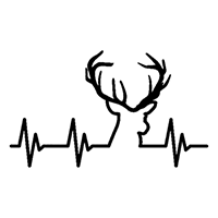 Heartbeat Deer Die Cut Vinyl Decal PV2363