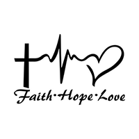 Heartbeat Faith Hope Love Die Cut Vinyl Decal PV2366