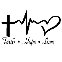 Heartbeat Faith Hope Love Die Cut Vinyl Decal PV2383