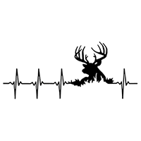 Heartbeat Hunting Die Cut Vinyl Decal PV2370